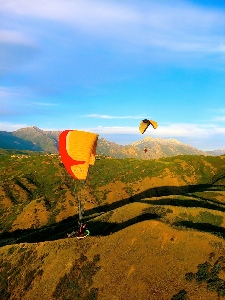 Paragliding in Big Cottonwood Canyon