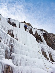 Ice Climbing, Photo Credit: James Tucker