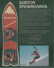 Burton Snowboards ad