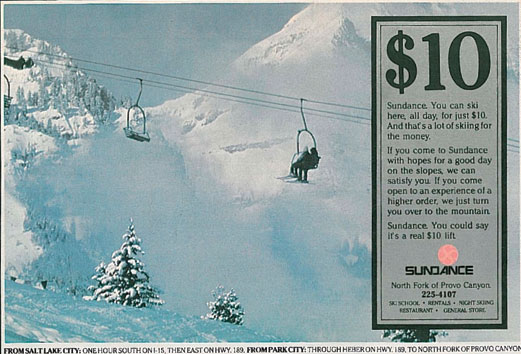 Old Sundance Resort Ad