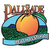 Logo image for the Palisade Peach Festival in Colorado, 2014
